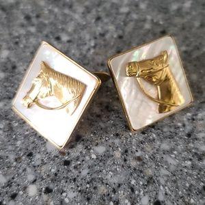 Vintage Gold Horse Cufflinks